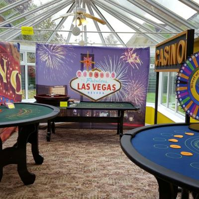 Casino Tables and backdrops