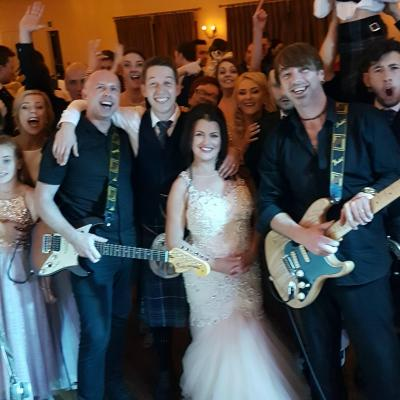 Star Club Wedding Band Selfie