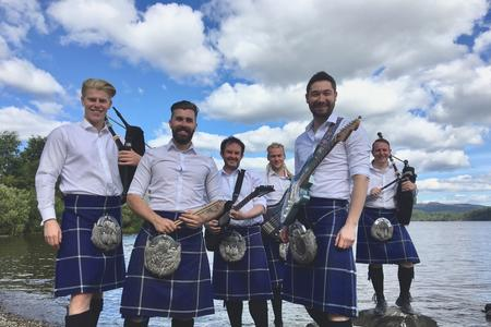 Scot Rock | Bagpipe Music Band For Hire | Hireaband