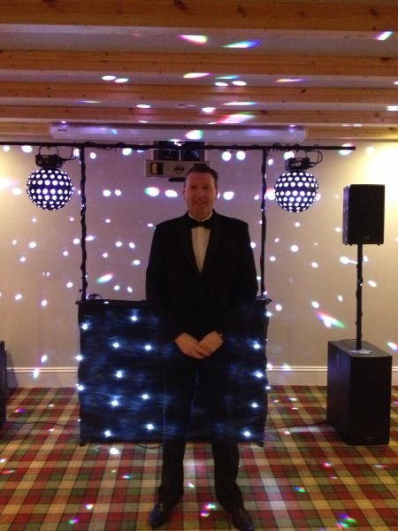 Alistair Gillies, DJ with HIre A Band
