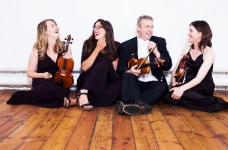 Newcastle String Quartet with hireaband